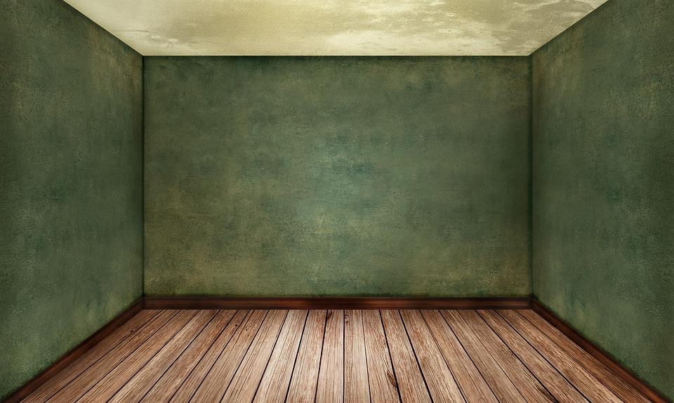 room empty interior ground wood floor brown wall