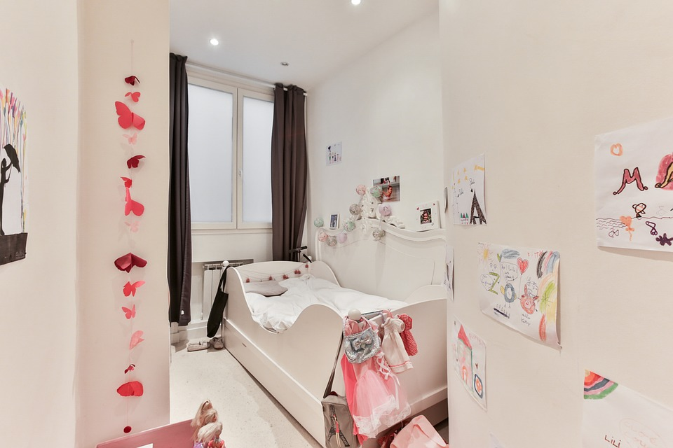 Nursery, Room Girl, Child Decoration, White Walls