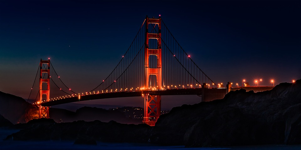 Golden Gate Bridge, Usa, California, San Francisco