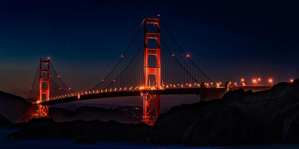golden gate bridge usa california free photo on pixabay. Black Bedroom Furniture Sets. Home Design Ideas