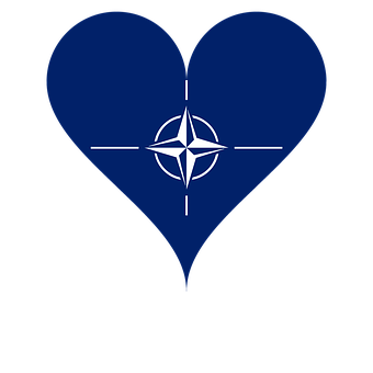 Love, Heart, Nato, Flag, Logo, Blue