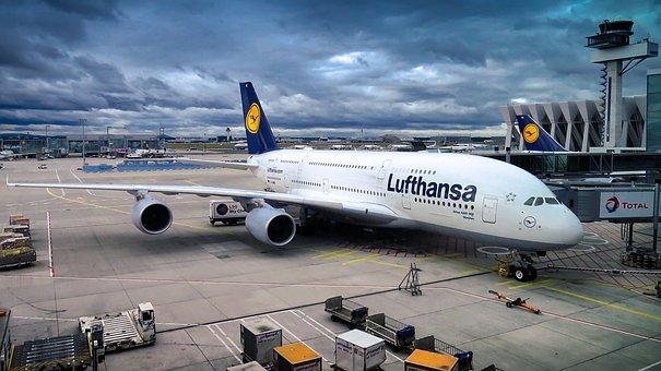 エアバス, A380, 航空機, 旅客機, 飛行, フライト, チラシ, 空港