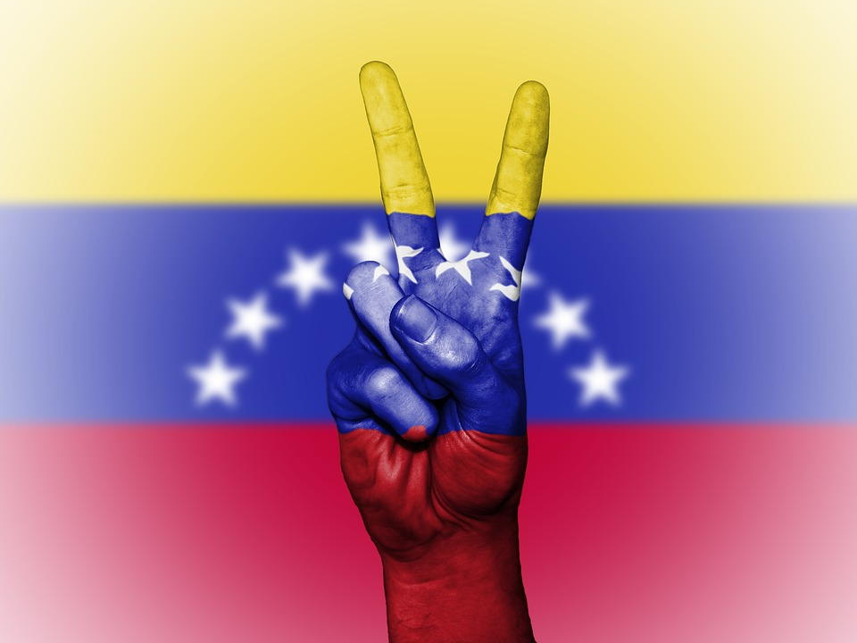 Venezuela, Peace, Hand, Nation, Background, Banner