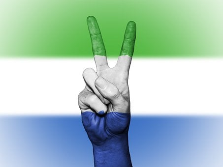 Sierra Leone Peace Hand Nation Background