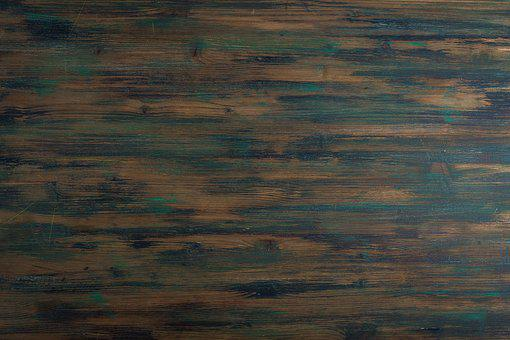 brown and blue wooden surface