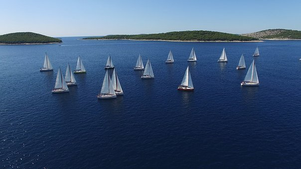 Regatta Sailboats Yachts Water Lake P