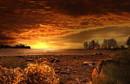 Sunset 340 Sonnenuntergang Lanhaft Natur