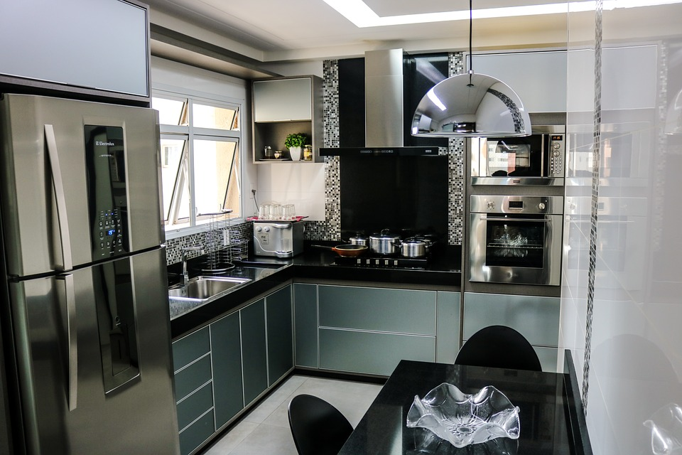 free photo kitchen refrigerator inox free image on. Black Bedroom Furniture Sets. Home Design Ideas