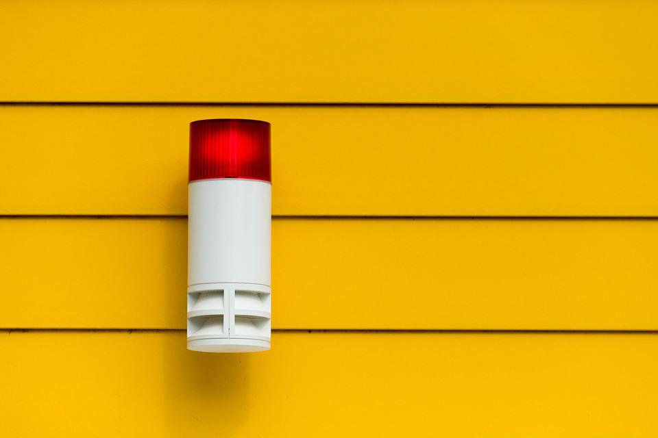 Alarm System, Emergency, Alarm, Security, Yellow, Red