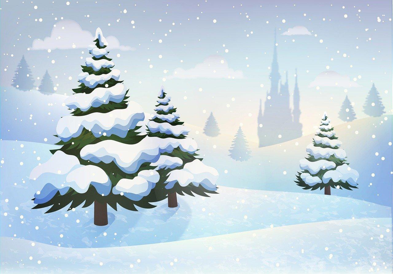 Картинки снега детские