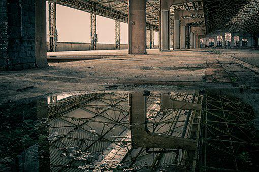 Lost Places, Hall, Pforphoto, Mirroring