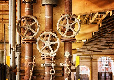Wheel, Valve, Heating, Line, Turn