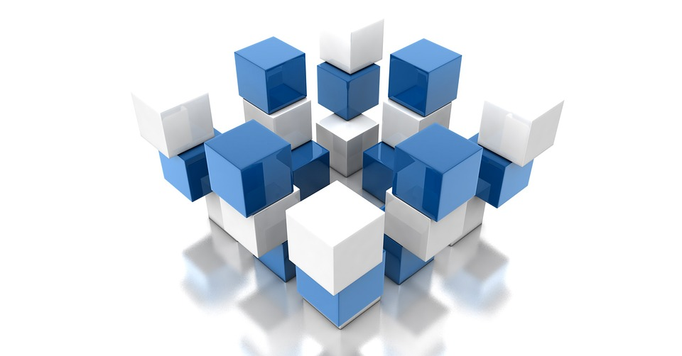 Blue, Cube, Design, Modern, Cube Shape