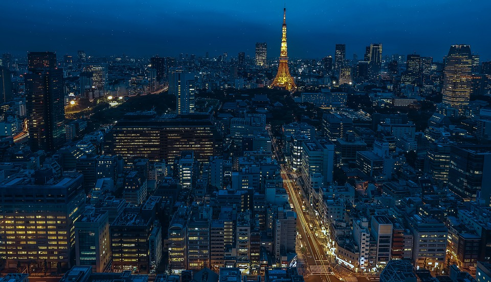 Tokyo, Japan, Tokyo Tower, Night, Night City, Tower