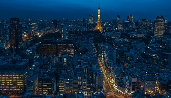 Tokyo Japan Tower Night