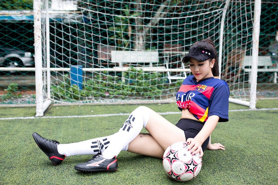 Fussball Madchen Modell Kostenloses Foto Auf Pixabay