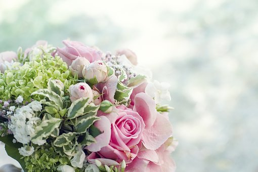 Bouquet, Bouquet Of Flowers, Wedding