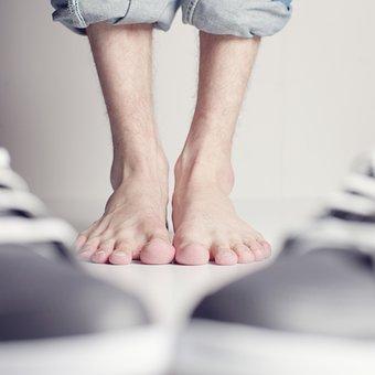 Feet, Barefoot, Foot, Ten, Shoes