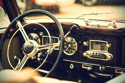 Oldtimer, Interior, Us Vehicle, Auto