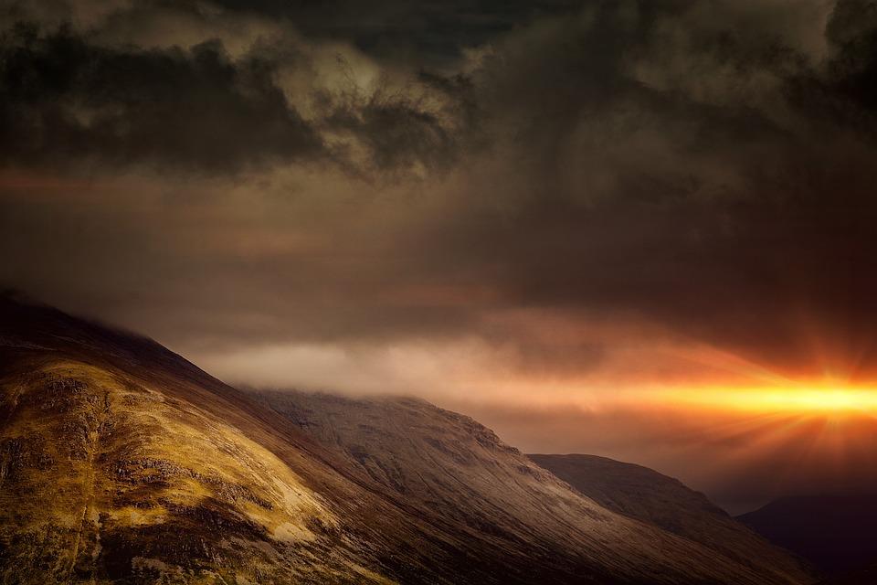 mountains sky light clouds - photo #19