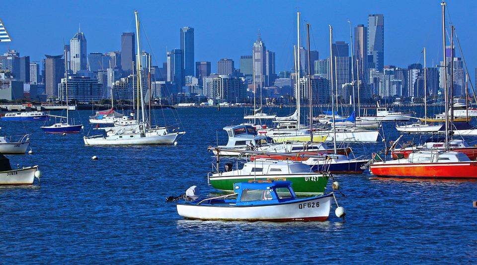 Stad, Melbourne, Australië, Stadsgezicht, Hemel, Water