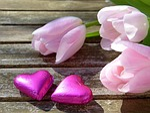 heart, pink, chocolate