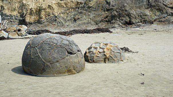 Moeraki Boulders New Zealand Huge Balls Mo