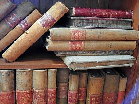 Libros, Edad, Anticuario, Viejo Script