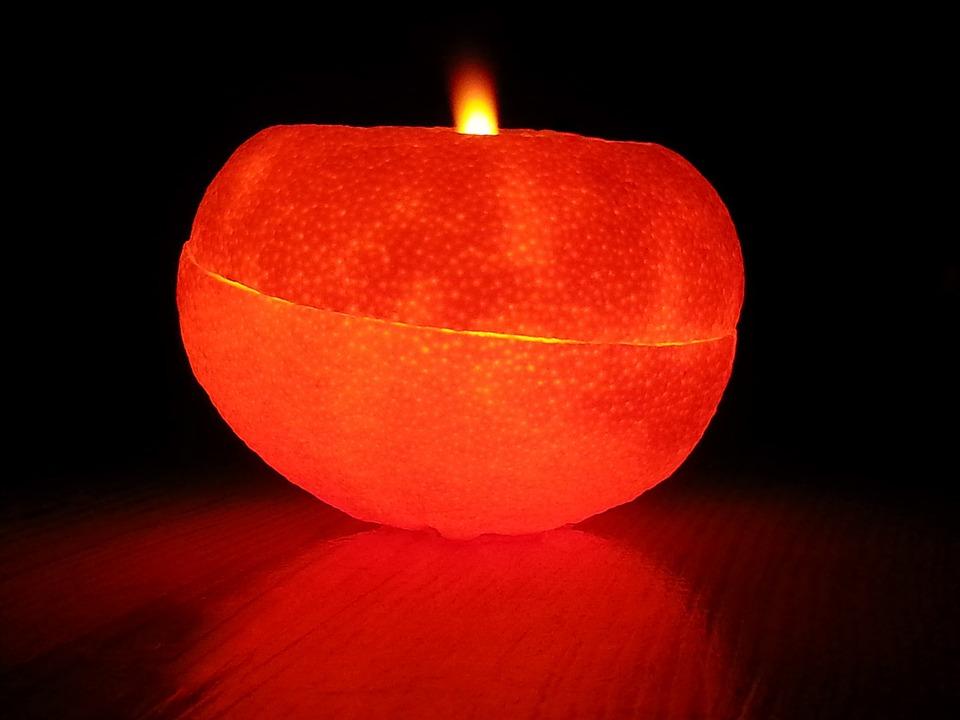 Orange Peel Oil Lamps, Oil Lamps