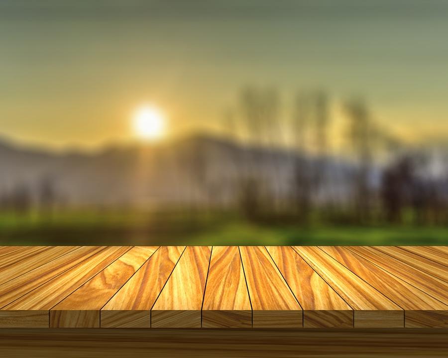 Free Photo Table Field Sunset Sun Wood Free Image