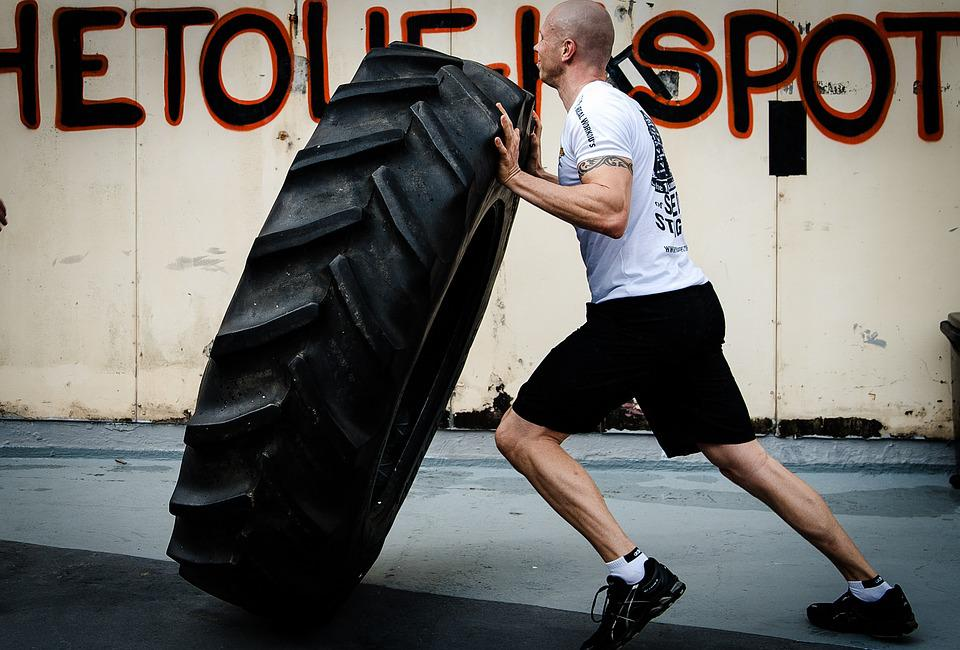 Tyre Flipping, Hardcore Training, Crossfit, Fitness