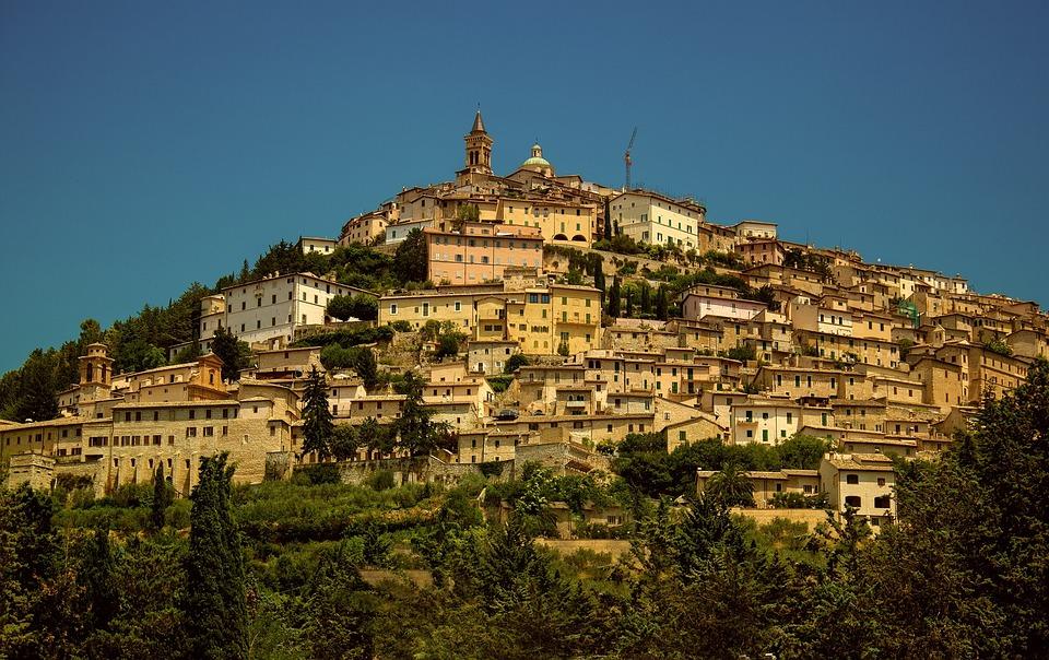 Umbría, Trevi, Valnerina, Perugia, Paisaje, País, Vista