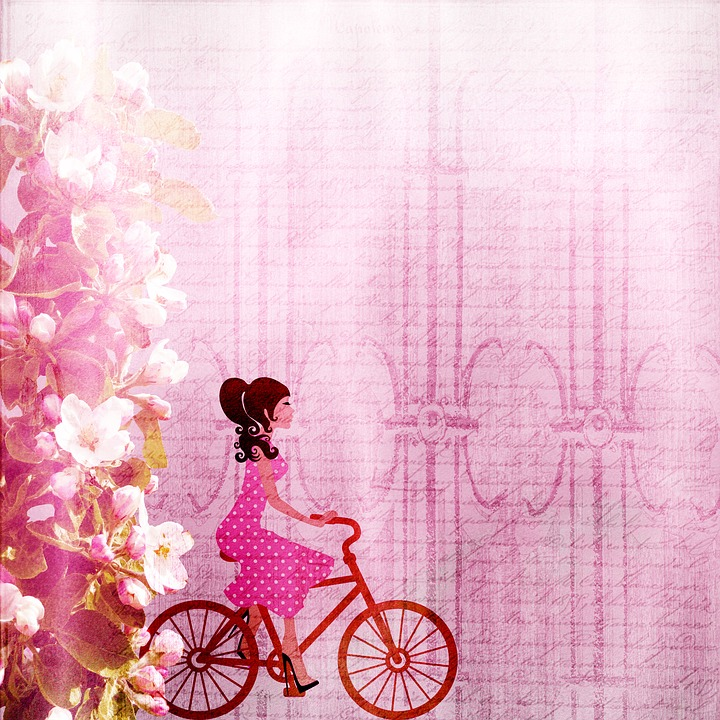 Free illustration: Background, Girl, Bike - Free Image on Pixabay ...