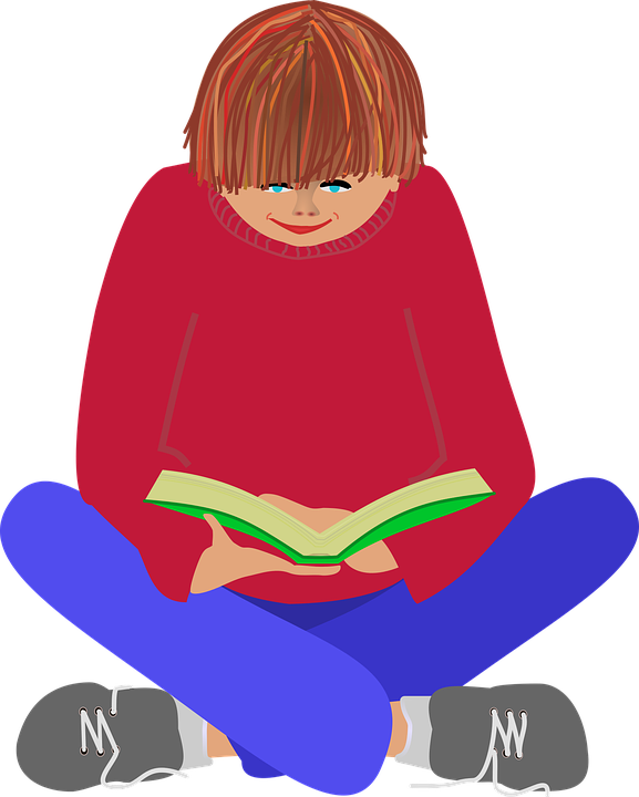 Child Relaxing Clipart