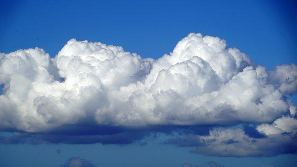 Blue, Sky, And, White, Clouds