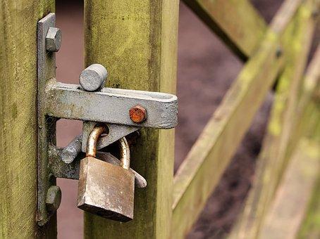 Verrouillé, Porte, Cadenas, De Sécurité