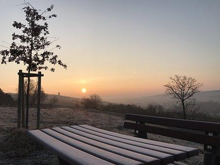 Zellertal, Frost, Sonnenaufgang, Tisch