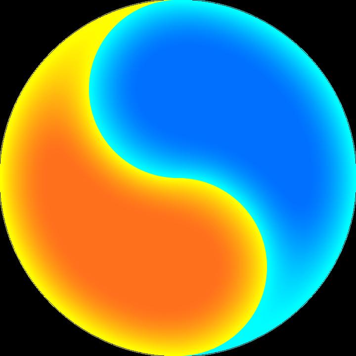 yinyang night day free vector graphic on pixabay rh pixabay com Cool Yin Yang Yin Yang Border