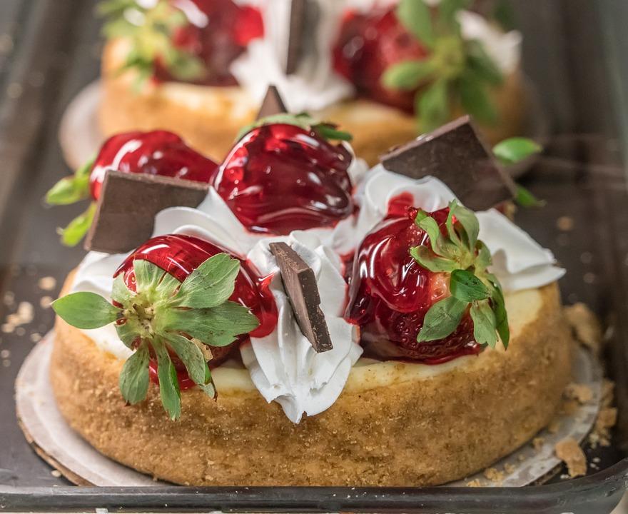 Jordbær Kage Fløde Gratis Foto På Pixabay