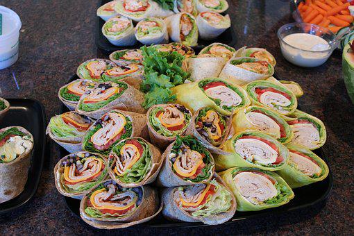 Wraps Food Lunch Tortilla Meal Snack Sandw