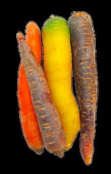 Carrots, Rainbow, Food, Vegetable