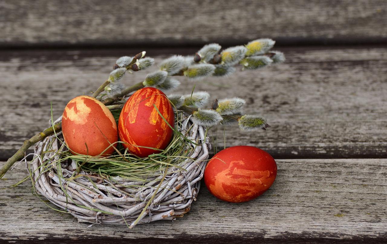 Oeufs De Pâques, Nid De Pâques, Décoration De Pâques