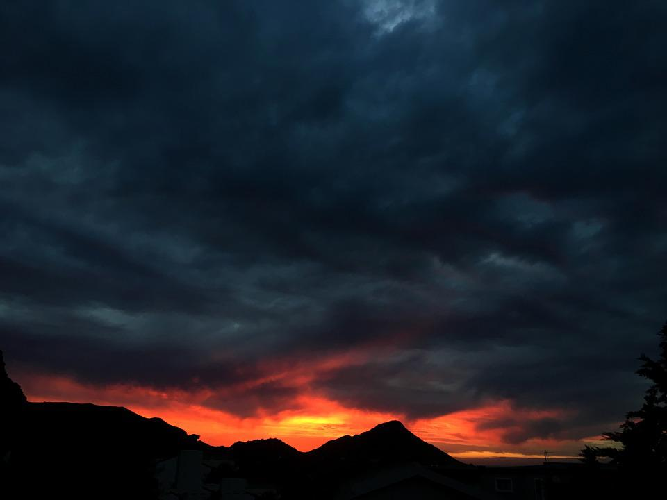 sunset red orange dark free photo on pixabay
