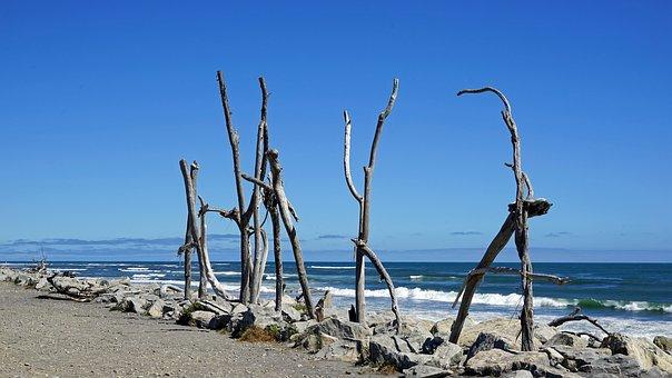 Hokitika Beach Coast Beach New Zealand Sou