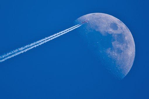 私を月に連れてって, ムーン, 航空機, 空, 飛行機雲, 飛行機雲, 飛行機雲
