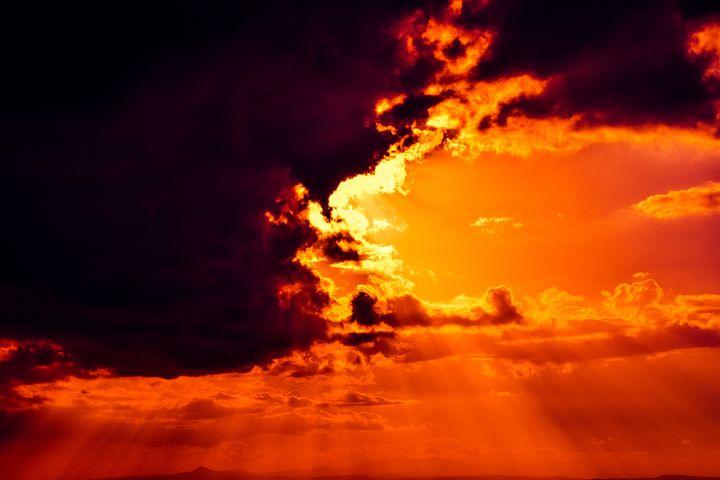 Огни в небе фото