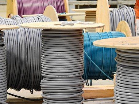 Linhas, cabo, tambor de cabo, corrente