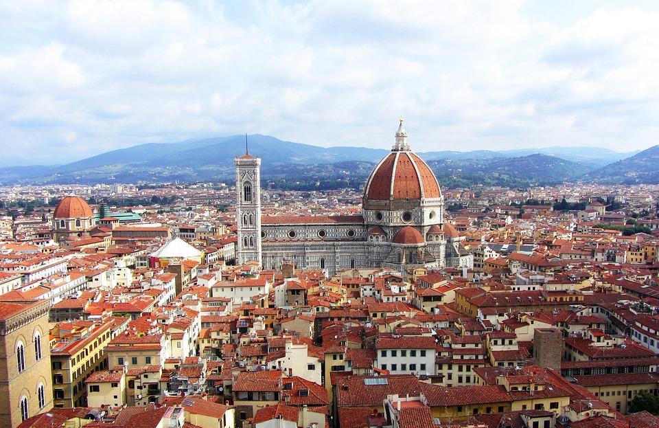 フィレンツェ, 市, イタリア, ドゥオーモ, ビュー, 旅行, ヨーロッパ, アーキテクチャ, 建設, 建物