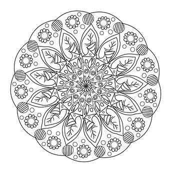 Mandala Coloring Page Color Flowers Hand Drawing Pencil Artist