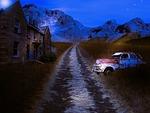 abandonment, old car, car
